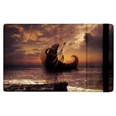 Steampunk Fractalscape, A Ship For All Destinations Apple Ipad 3/4 Flip Case by jayaprime
