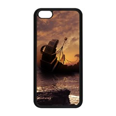 Steampunk Fractalscape, A Ship For All Destinations Apple Iphone 5c Seamless Case (black)
