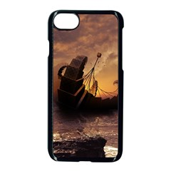 Steampunk Fractalscape, A Ship For All Destinations Apple Iphone 7 Seamless Case (black) by jayaprime