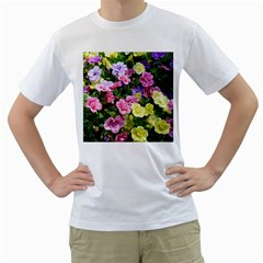 Lovely Flowers 17 Men s T Shirt (white) (two Sided)