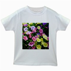 Lovely Flowers 17 Kids White T Shirts
