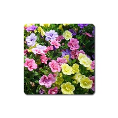 Lovely Flowers 17 Square Magnet