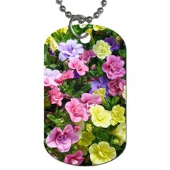 Lovely Flowers 17 Dog Tag (one Side)
