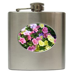 Lovely Flowers 17 Hip Flask (6 Oz)