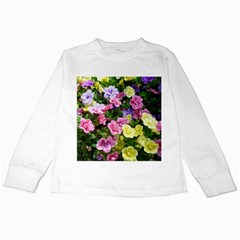 Lovely Flowers 17 Kids Long Sleeve T Shirts