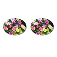 Lovely Flowers 17 Cufflinks (oval) by MoreColorsinLife