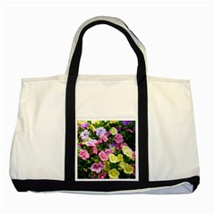 Lovely Flowers 17 Two Tone Tote Bag