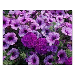 Wonderful Lilac Flower Mix Rectangular Jigsaw Puzzl by MoreColorsinLife