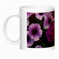 Wonderful Lilac Flower Mix Night Luminous Mugs