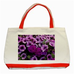 Wonderful Lilac Flower Mix Classic Tote Bag (red)