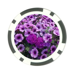 Wonderful Lilac Flower Mix Poker Chip Card Guard