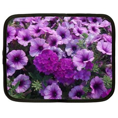 Wonderful Lilac Flower Mix Netbook Case (xl)  by MoreColorsinLife