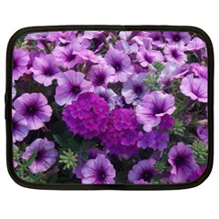 Wonderful Lilac Flower Mix Netbook Case (xxl)  by MoreColorsinLife
