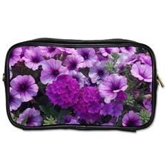 Wonderful Lilac Flower Mix Toiletries Bags 2 Side