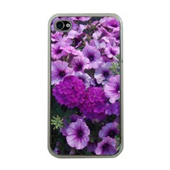 Wonderful Lilac Flower Mix Apple Iphone 4 Case (clear)