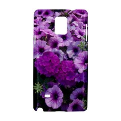 Wonderful Lilac Flower Mix Samsung Galaxy Note 4 Hardshell Case by MoreColorsinLife