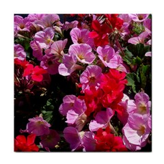 Wonderful Pink Flower Mix Tile Coasters