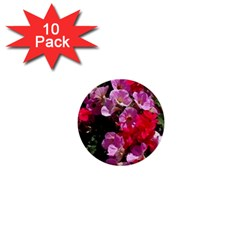 Wonderful Pink Flower Mix 1  Mini Buttons (10 Pack)