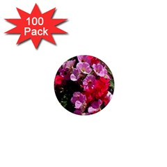 Wonderful Pink Flower Mix 1  Mini Magnets (100 Pack)