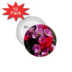 Wonderful Pink Flower Mix 1 75  Buttons (10 Pack)