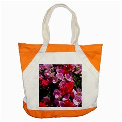 Wonderful Pink Flower Mix Accent Tote Bag