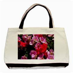 Wonderful Pink Flower Mix Basic Tote Bag (two Sides) by MoreColorsinLife