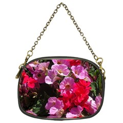 Wonderful Pink Flower Mix Chain Purses (one Side)