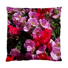 Wonderful Pink Flower Mix Standard Cushion Case (two Sides)