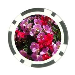 Wonderful Pink Flower Mix Poker Chip Card Guard (10 Pack)