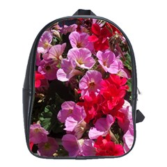 Wonderful Pink Flower Mix School Bags(large)