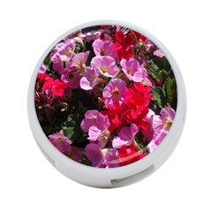 Wonderful Pink Flower Mix 4 Port Usb Hub (one Side)