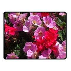 Wonderful Pink Flower Mix Fleece Blanket (small) by MoreColorsinLife