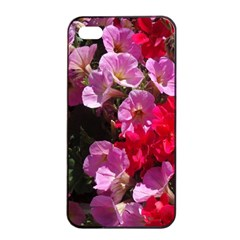 Wonderful Pink Flower Mix Apple Iphone 4/4s Seamless Case (black)
