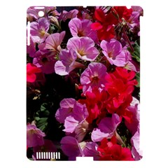 Wonderful Pink Flower Mix Apple Ipad 3/4 Hardshell Case (compatible With Smart Cover)