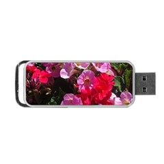 Wonderful Pink Flower Mix Portable Usb Flash (one Side)