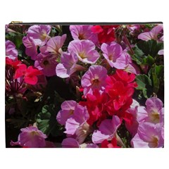 Wonderful Pink Flower Mix Cosmetic Bag (xxxl)