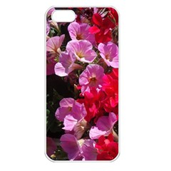 Wonderful Pink Flower Mix Apple Iphone 5 Seamless Case (white)