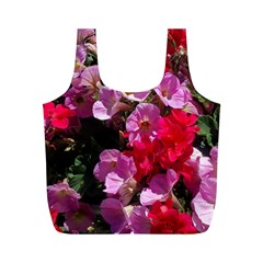 Wonderful Pink Flower Mix Full Print Recycle Bags (m)