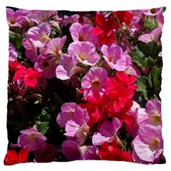 Wonderful Pink Flower Mix Standard Flano Cushion Case (two Sides)