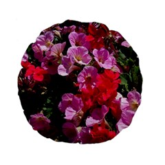 Wonderful Pink Flower Mix Standard 15  Premium Flano Round Cushions