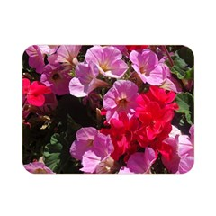 Wonderful Pink Flower Mix Double Sided Flano Blanket (mini)