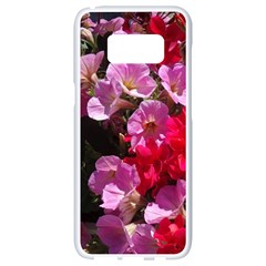 Wonderful Pink Flower Mix Samsung Galaxy S8 White Seamless Case