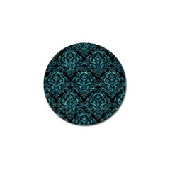 Damask1 Black Marble & Blue Green Water Golf Ball Marker by trendistuff