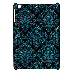Damask1 Black Marble & Blue Green Water Apple Ipad Mini Hardshell Case by trendistuff