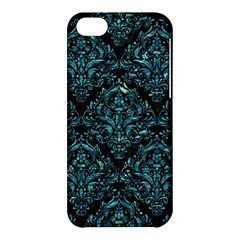 Damask1 Black Marble & Blue Green Water Apple Iphone 5c Hardshell Case by trendistuff