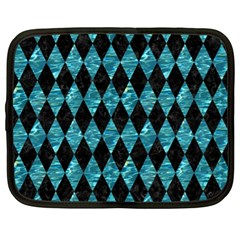 Diamond1 Black Marble & Blue Green Water Netbook Case (xl) by trendistuff