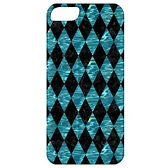 Diamond1 Black Marble & Blue Green Water Apple Iphone 5 Classic Hardshell Case by trendistuff