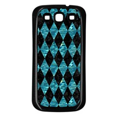 Diamond1 Black Marble & Blue Green Water Samsung Galaxy S3 Back Case (black) by trendistuff