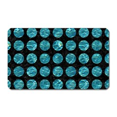 Circles1 Black Marble & Blue Green Water Magnet (rectangular) by trendistuff