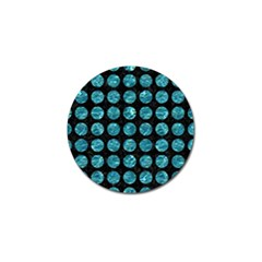 Circles1 Black Marble & Blue Green Water Golf Ball Marker (10 Pack) by trendistuff